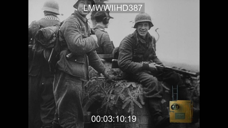 GERMAN NEWSREEL EXCERPTS 1942 INCORRECT SHOULD BE 1944 REEL 2 PART 1 GERMAN INF LMWWIIHD387