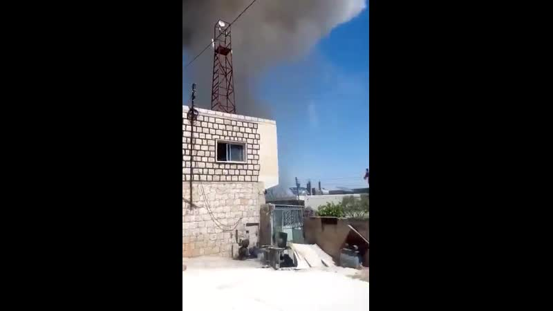 Russians allegedly hit HTS-linked facility in Kafr Nabl town of Idlib province