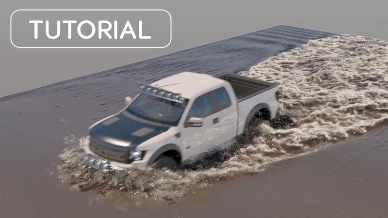 Truck vs. Muddy Water VFX Tutorial Phoenix FD