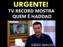 TV RECORD MOSTRA FALSIDADE DE HADDAD E MANUELA