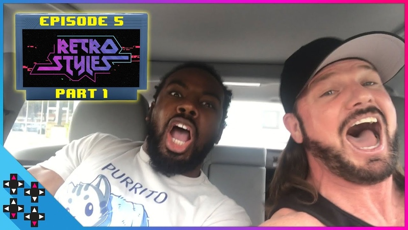 AJ STYLES and AUSTIN CREED find VIDEO GAME NIRVANA! - Retro Styles 5 (Part 1)
