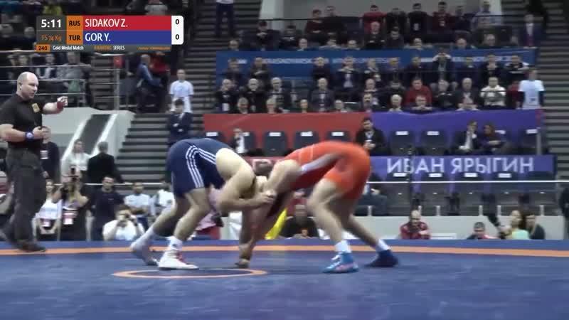 Зурбек Сидаков - Якуб Гор 74 кг Финал Иван Ярыгин 2019