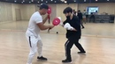 190422 BTS UPDATE Our multi talented Golden Maknae posted a VIDEO showing he's practicing BOXING