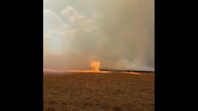 Огненный смерч вблизи от города Магалисбург ЮАР 10 11 2018