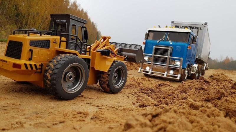 ФРОНТАЛЬНЫМ ПОГРУЗЧИКОМ ВЫТАСКИВАЕМ ФУРУ ... Радиоуправляемые грузовики (RC Tamiya Truck)