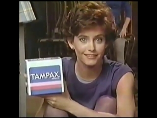 Courtney Cox / Tampax commercial, 1985