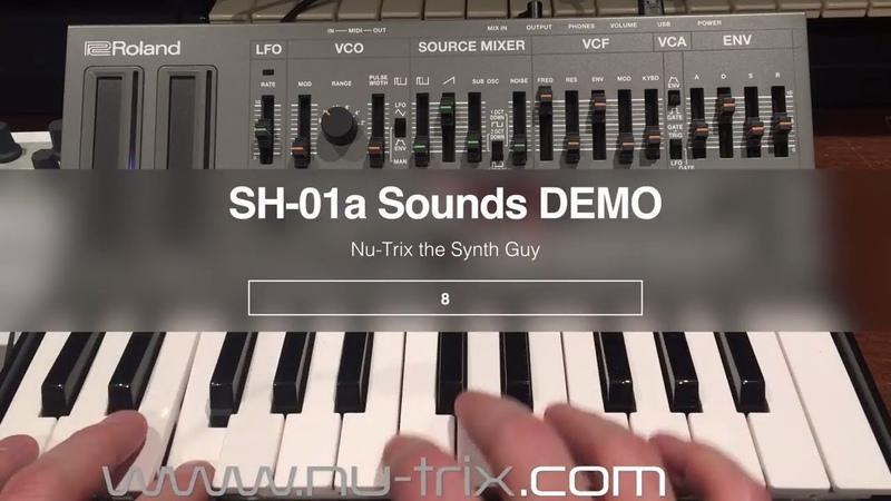 Roland SH-01a Sound demo