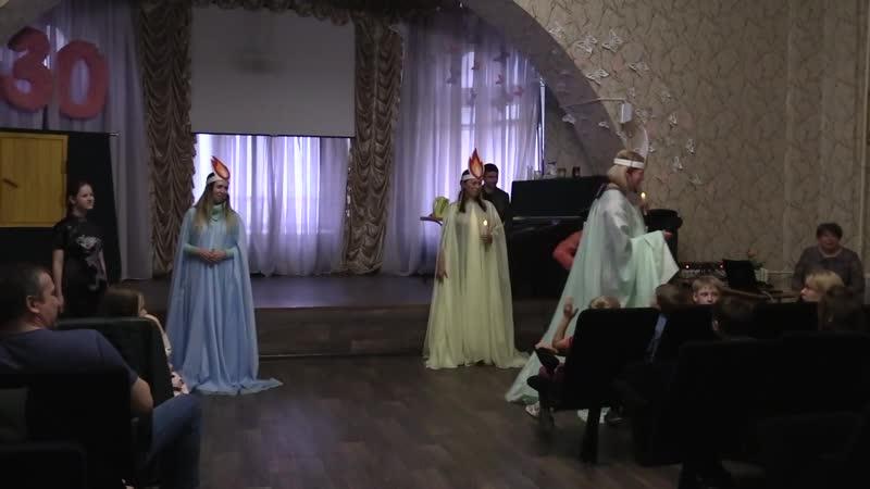 История Три свечи в Бежецкой школе-интернате 06.04.2019 г.
