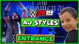 WWE 2K19 AJ Styles Entrance - Official WWE 2K19 Entrance AJ Styles