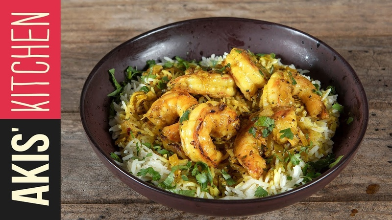 Spicy coconut shrimp with turmeric   Akis Kitchen