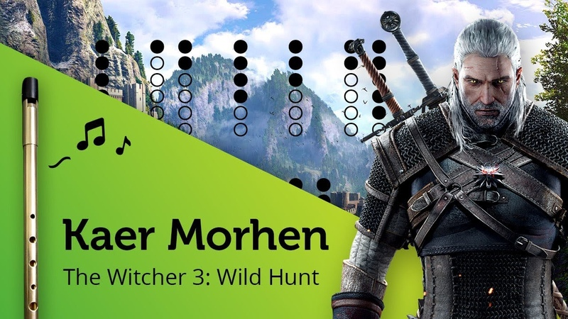 Kaer Morhen The Witcher 3 Wild Hunt on Tin Whistle D tabs tutorial