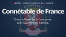 Connétable de France grand officier de la couronne chef des armées