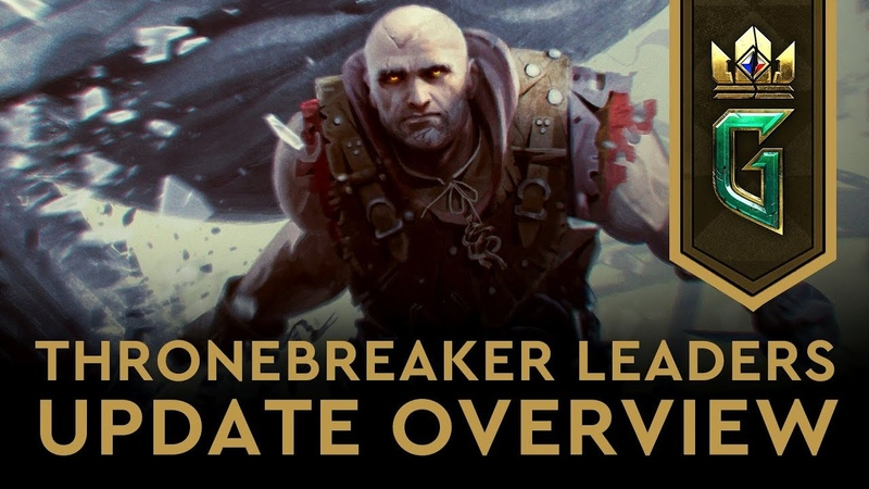 GWENT THE WITCHER CARD GAME | Thronebreaker Leaders Update Overview 25.01.2019