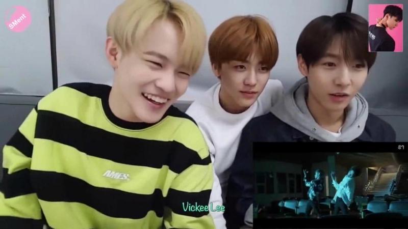 Реакция NCT Dream на клип NCT U Baby dont stop