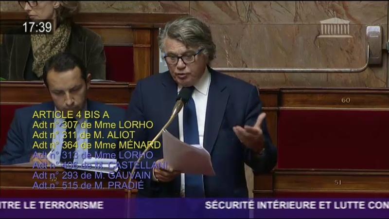 Projet de loi de lutte contre le terrorisme Intervention de Gilbert Collard 25 09 2017