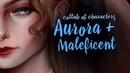 Положительный герой злодей / Maleficent Aurora = ? (speedpaint)🌸😈