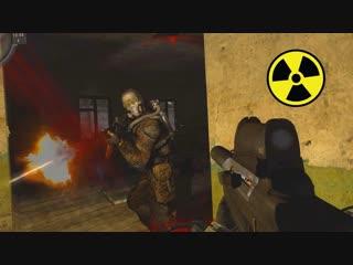 Мануэль НАПАЛИ НЕОЖИДАННО. Война за слабую группировоку. STALKER Call of Chernobyl by stason 6.03 #7