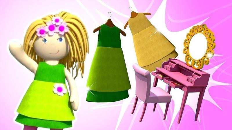 Casa de bonecas Desenho animado O guarda roupa