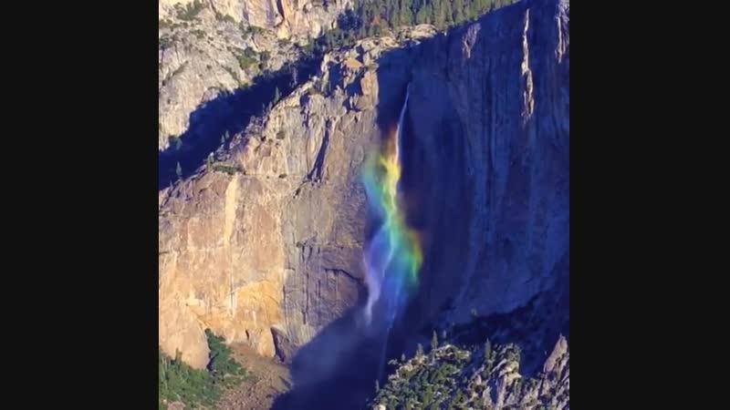 Rainbow at Yosemite (Somewhere over the Rainbow - Israel _IZ_ Kamakawiwoʻole)
