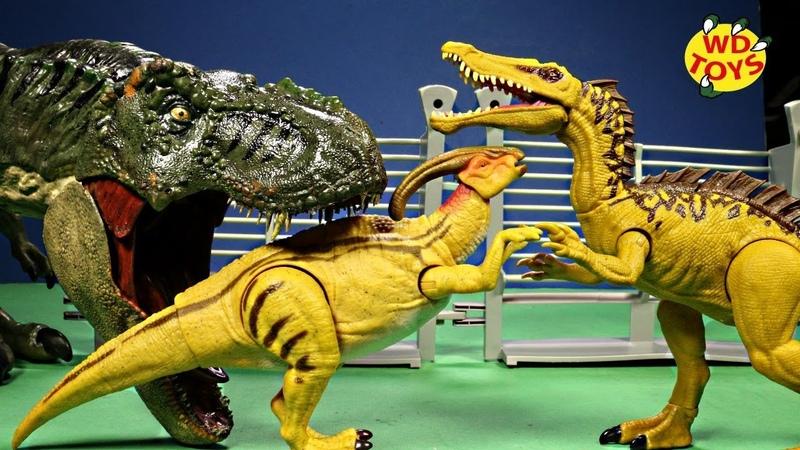 New Jurassic World Dino Rivals Dual Attack PARASAUROLOPHUS Unboxing Fallen Kingdom Mattel T-Rex Vs