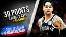 D'Angelo Russell Full Highlights 2019.03.25 Blazers vs Nets - 39 Pts, 9 Rebs, 8 Asts! | FreeDawkins