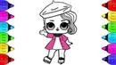 L.O.L Surprise Doll Posh Coloring | LOL Surprise Dolls Coloring Book | LOL Doll Posh