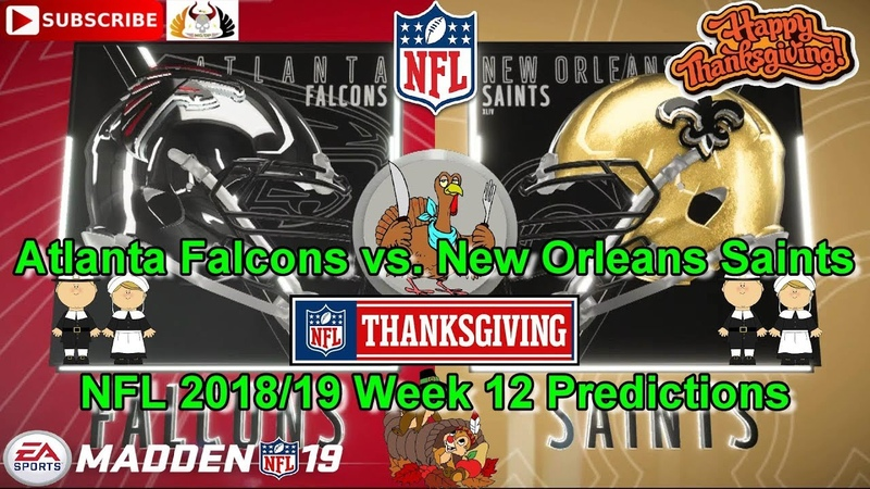 Atlanta Falcons vs. New Orleans Saints | NFL 2018-19 Week 12 | Predictions Madden NFL 19