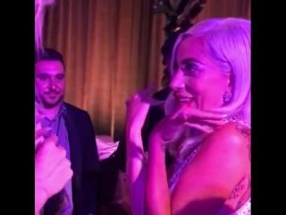 Леди Гага на вечеринке после премьеры «Звезда родилась» в лос-анджелесском «The Shrine Auditorium» (24.09.2018)