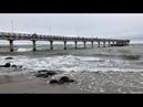 Ветер и волны на Балтийском море в Зеленоградске