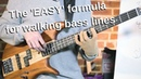 The SIMPLEST walking bass line formula - EXACTLY where to start