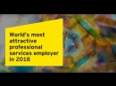 EY is the world's most attractive professional services employer! Again.