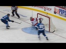 Petr Mrazek lunges back for incredible save on 2 on 0 chance
