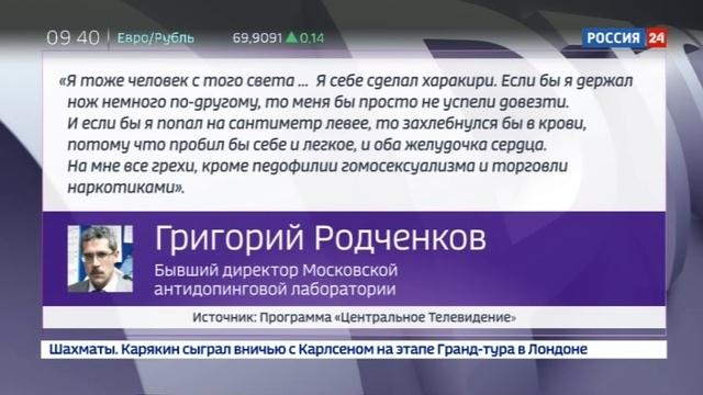 Новости на Россия 24 • Олимпиада под вопросом: информатор WADA лежал в психушке и делал себе харакири