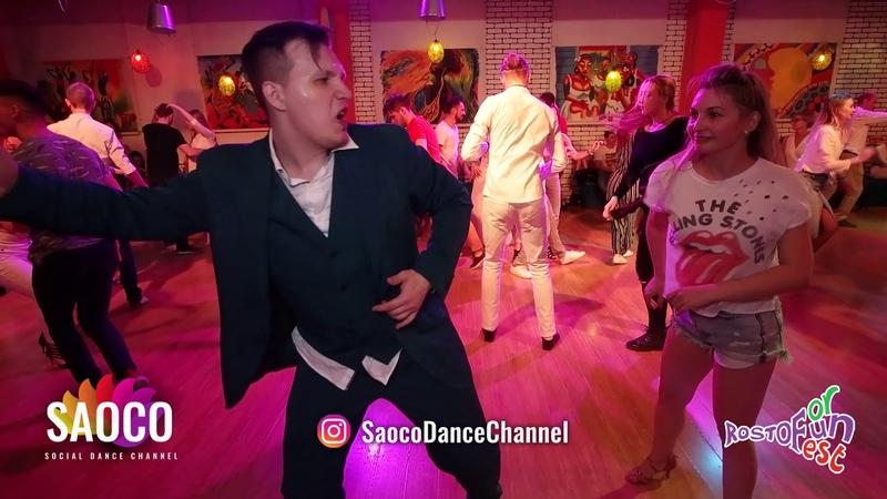 Ilya Kronberg and Tatyana Rakhmetulova Salsa Dancing at Rostov For Fun Fest 2018, Sat 03.11.2018