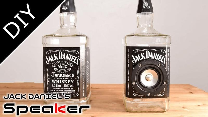 【DIY】ガラスのボトルスピーカー - JACK DANIELs Glass Bottle Speaker