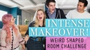 INTENSE Makeover Weird Shaped Room Challenge