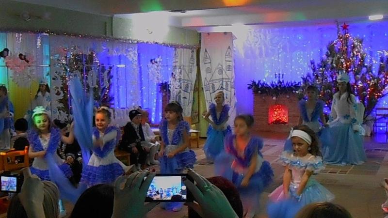ДОУ № 24 Золушка г Харцызск Танец снежинок старшая группа Барвинок