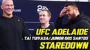 Tai Tuivasa, Junior Dos Santos Can't Keep It Straight During Staredown | UFC ADELAIDE