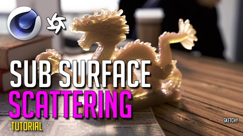 Cinema 4D Tutorial - Realistic Subsurface Scattering (Octane)