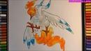 Cách vẽ pokemon huyền thoại Mega Moltres sức mạnh tối thượng