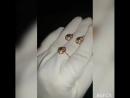 Гарнитур, кольцо и серьги с фианитами, золото 585пр