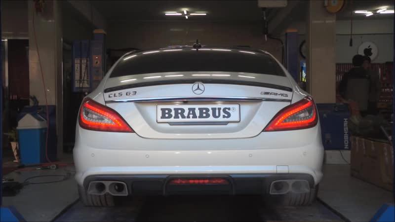 BRABUS valve controlled exhaust for CLS63 AMG _ BRABUS Klappenauspuff für CLS63