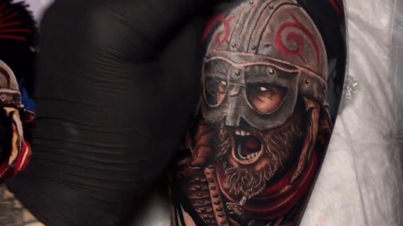 Voron Tattoo - Viking (time laps)