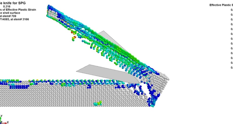 Metal cutting in LS-DYNA with SPG: Effective plastiс strain