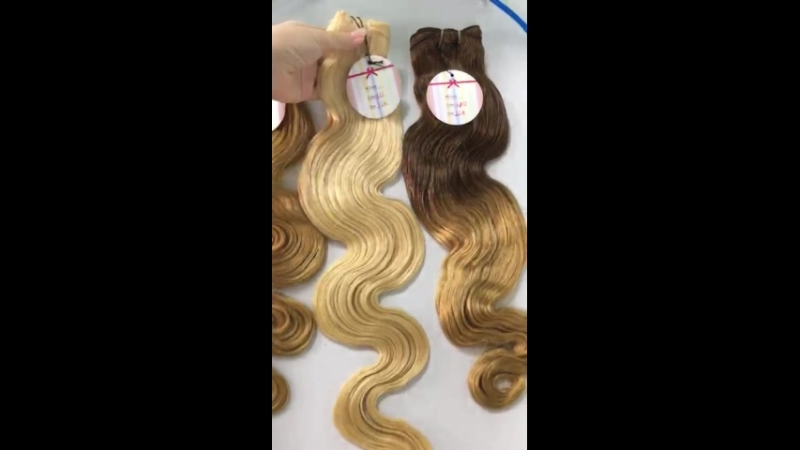 WEFT HAIR, WATER WAVY, NICE COLOR, 24 INCHES