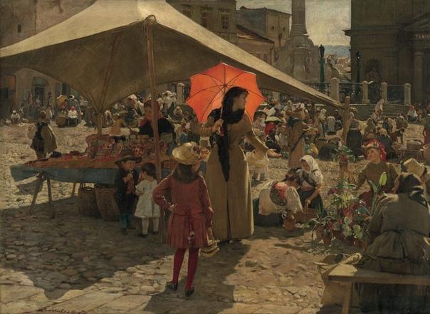 Domini Sutecý, ( 14. február 1849 1921 ) словенский художник Жил и формировался в Вене (1871 1875) и в Венеции (1876 1889), где его работы успешно участвовали в международной сети торговли