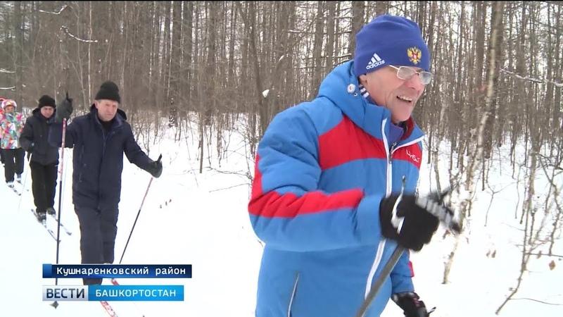 Житель Кушнаренково проложил для односельчан шестикилометровую лыжню