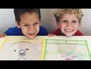 Drawing Portraits - fun kids activity - Preschool Art activity - ice breaker - team building kids