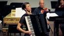 Ksenija Sidorova, accordion performs Bach D minor piano concerto - 2 min clip