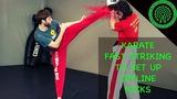 Karate Sparring Drills - Fast Punches to set up Angles for BIG Kicks